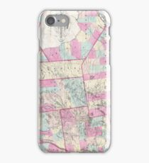Vintage Map of The Adirondack Mountains (1867) iPhone Case/Skin