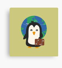 Penguin world traveler   Canvas Print