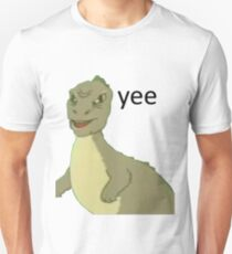 Yee [dinosaur maym :^)] (version 1, video quality, black text) Unisex T-Shirt