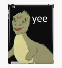 Yee [dinosaur maym :^)] (version 1, video quality, white text) iPad Case/Skin