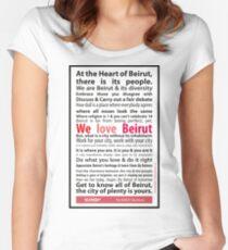 Beirut Manifesto - We Love Beirut Women's Fitted Scoop T-Shirt