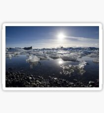 Melting ice in Jokulsarlon glacier lagoon, Iceland Sticker