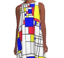 LARGE MONDRIAN A-Line Dress
