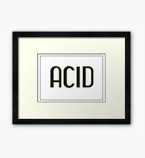 Acid Logotype Framed Print