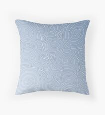 Spirals - air symbol, 4 elements Throw Pillow