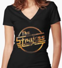 Strokes logo Tropical Women's Fitted V-Neck T-Shirt