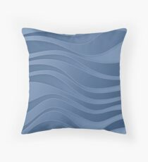 Waves - water symbol, 4 elements Throw Pillow