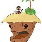 Monkey and Island, simplified by JCarrtoons