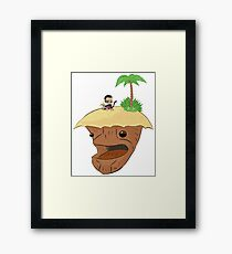 Monkey and Island, simplified Framed Print