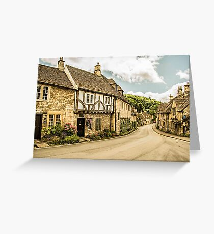 Castle Combe Village Greeting Card