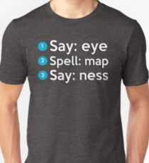 Say: Eye Spell: Map Say: Ness T-Shirt