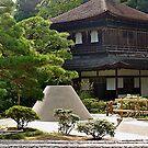 Ginkaku-ji, The Silver Pavilion, Kyoto, Japanese Garden scene. by johnrf