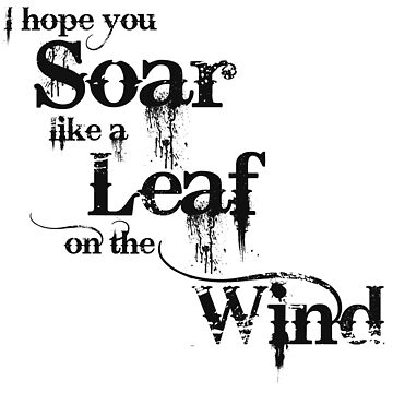 I hope you Soar like a Leaf on the Wind by carriepotter