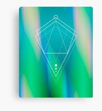 Hologram geometry Canvas Print