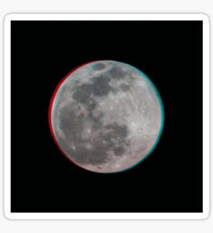 3D Moon Sticker