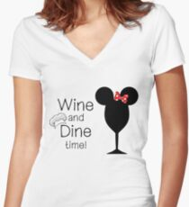 Food and Wine Festival Time Women's Fitted V-Neck T-Shirt