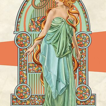 Summer - Art Nouveau by jillsandersart