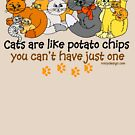 Cats are like potato chips by ironydesigns