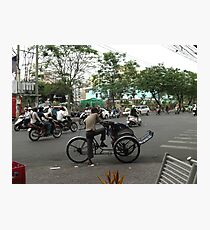 Traffic in Ho Chi Minh Photographic Print