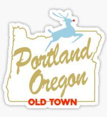 Pegatina Portland Oregon - Hecho en Oregon Sign