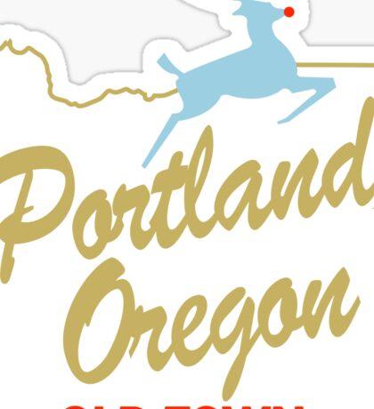 Portland Oregon - Made in Oregon Sign Sticker