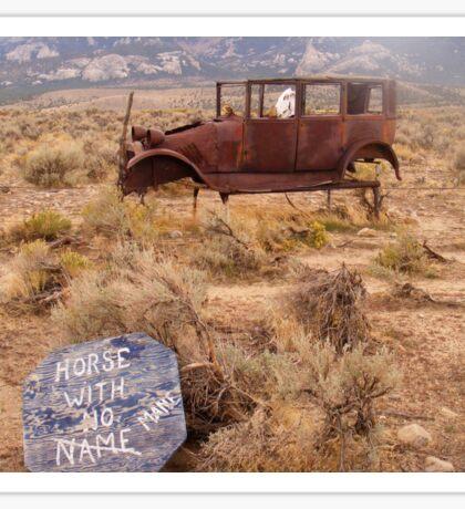 Horse with No Mane Sticker