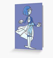 Matte Blue Pearl Greeting Card