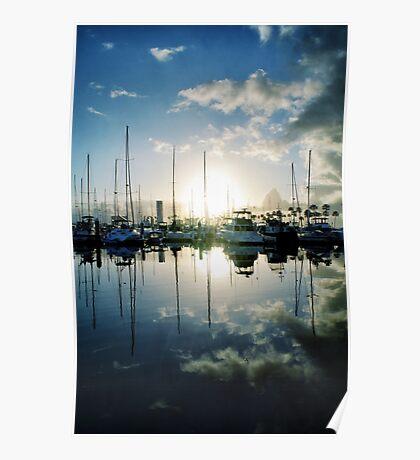 mirrored marina Poster