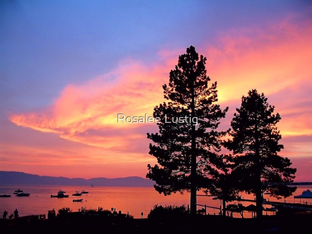 Lake Tahoe Sunset by Rosalee Lustig