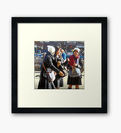 Three Teenage Girls From School Framed Print
