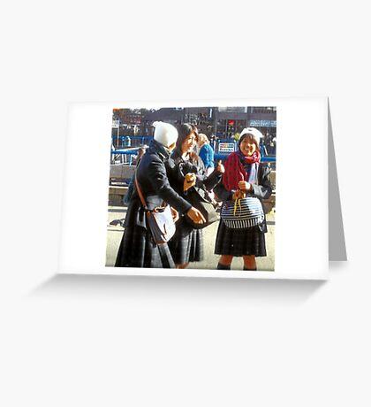 Three Teenage Girls From School Greeting Card
