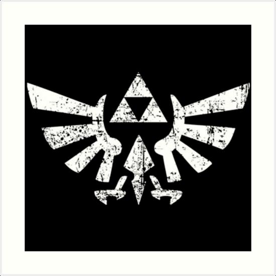 Zelda Triforce Symbol Art Prints By Ktgalery Redbubble