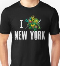 I Ninja Turtle New York - Black T-Shirt