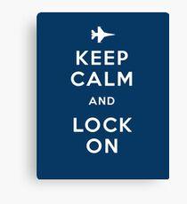Keep Calm and Lock On Canvas Print