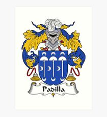Padilla Coat of Arms/Family Crest Art Print