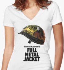 Stanley Kubrick's Full Metal Jacket Women's Fitted V-Neck T-Shirt