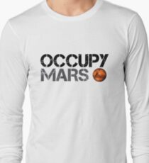 Occupy Mars - Space Planet - SpaceX Long Sleeve T-Shirt