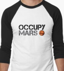 Occupy Mars - Space Planet - SpaceX Men's Baseball ¾ T-Shirt