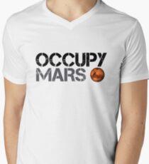 Occupy Mars - Weltraumplanet - SpaceX T-Shirt mit V-Ausschnitt für Männer