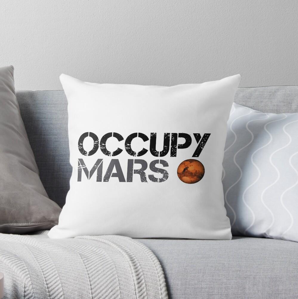 Occupy Mars - Weltraumplanet - SpaceX Dekokissen