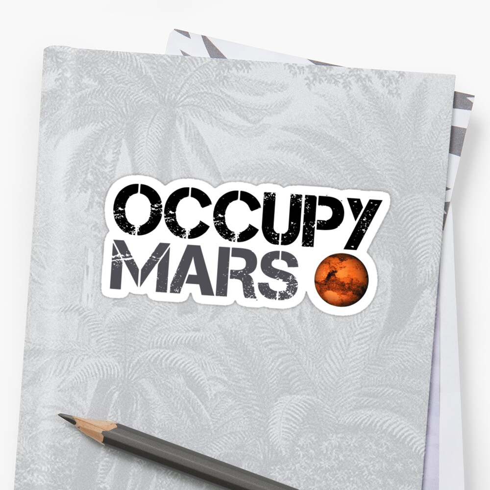 Occupy Mars - Space Planet - SpaceX Pegatinas
