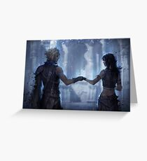 Cloud Strife and Tifa Lockhart Greeting Card