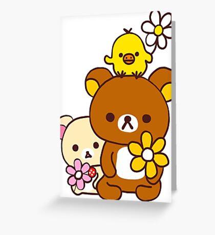 Rilakkuma and Friends Greeting Card