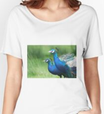 Peacocks in the Park Women's Relaxed Fit T-Shirt