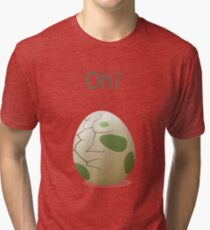 Oh? A hatching egg! Tri-blend T-Shirt