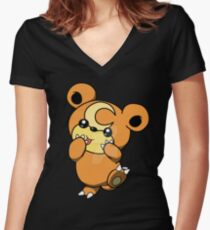 Teddiursa Women's Fitted V-Neck T-Shirt