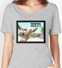 Goat Saying Hey! Women's Relaxed Fit T-Shirt