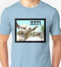 Goat Saying Hey! Unisex T-Shirt