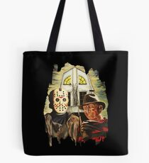 Freddy vs Jason Horror American Gothic Tote Bag
