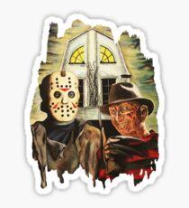 Freddy vs Jason Horror American Gothic Sticker